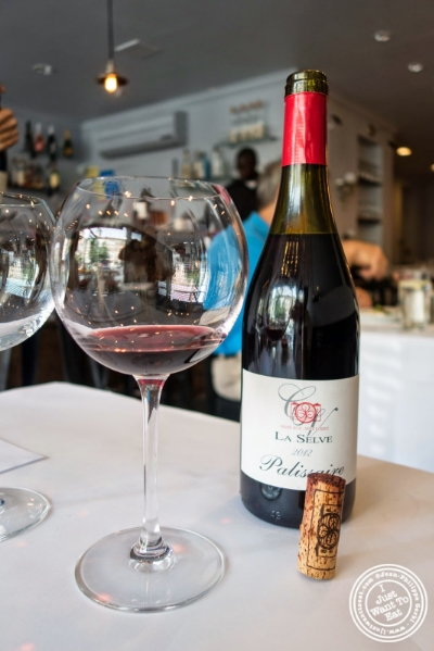 château de la sèlve palissaire 2012 at Frere de Lys, French restaurant on the Upper East Side, NY