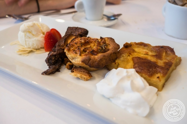dessert sampler at Frere de Lys, French restaurant on the Upper East Side, NY