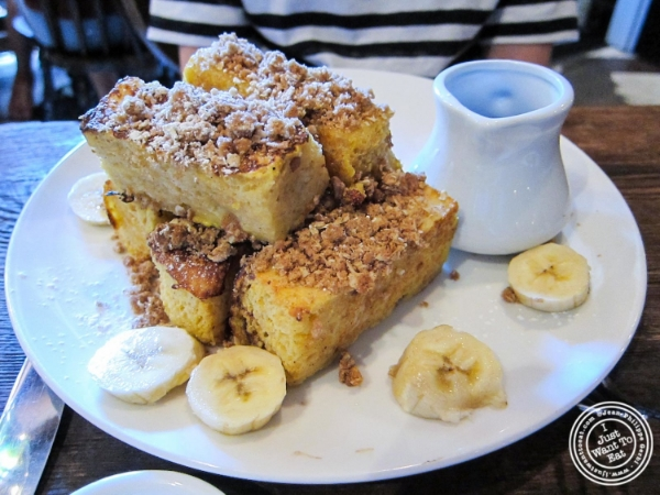 French toast  at Bobo in NYC, Ne  w York