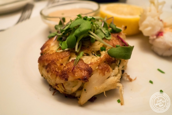 crab cakes at Bobby Van's Grill in New York, NY
