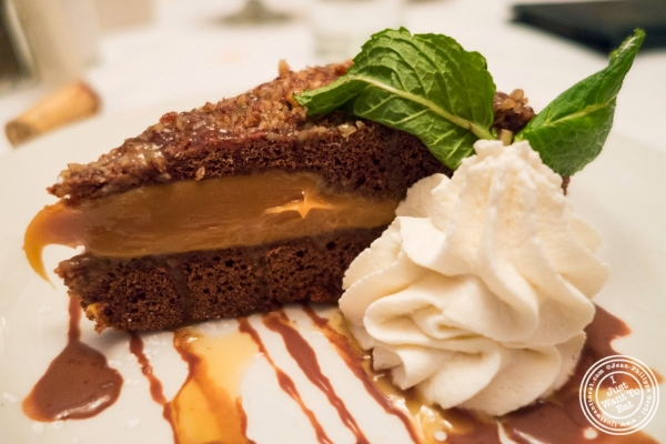 pecan caramel fudge pie at Bobby Van's Grill in New York, NY