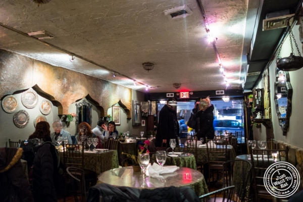 Dining room at Turkish Cuisine in Hell's Kitchen, NYC, New York