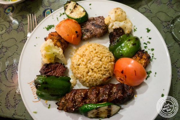 Combo grill at Turkish Cuisine in Hell's Kitchen, NYC, New York