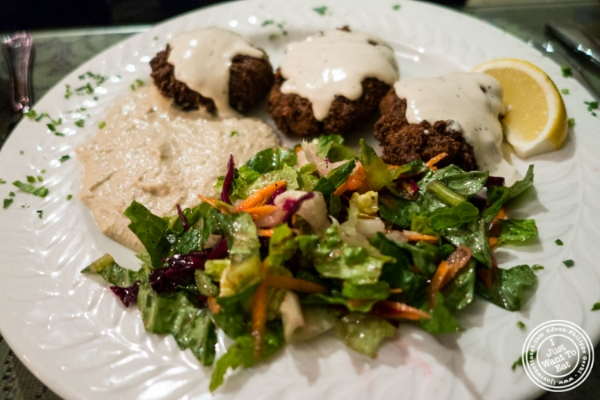 Falafel platter at Turkish Cuisine in Hell's Kitchen, NYC, New York