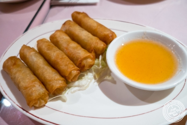 Siam or Spring rolls at Pongsri, Thai restaurant near Times Square in NYC, New York