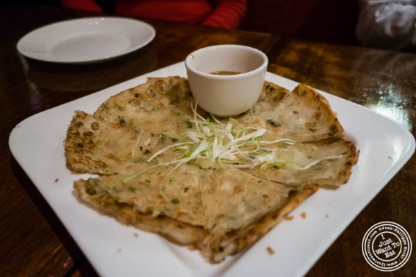 Scallion pancakes at Saigon 48, Asian restaurant near Times Square, NYC, New York