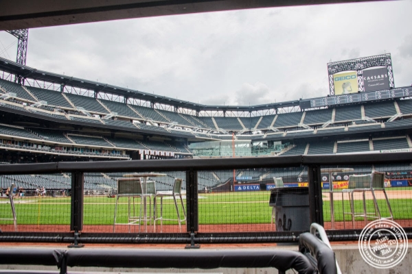 the dugout at Citi Field, home of the NY Mets