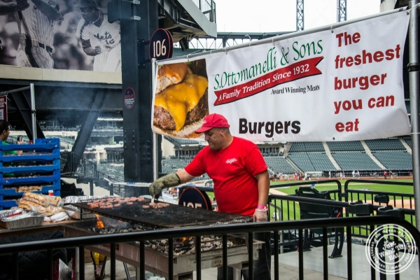 S. Ottomanelli and Sons - caramelized onions and bacon burger at Citi Field, home of the NY Mets