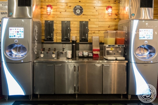 Soda fountain at Burger Fi in Yorkville, NYC, New York