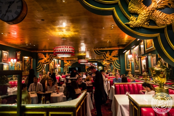 dining room at The Russian Tea Room in NYC, NY
