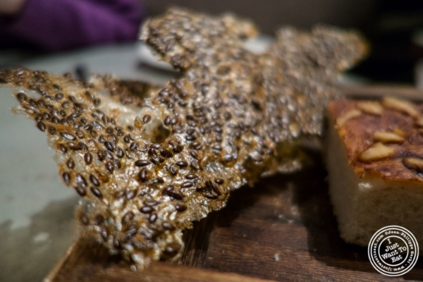 Flaxseed crisp     at Blenheim in NYC, Ne  w York