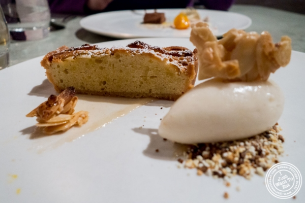 Pear and frangipane tart at Blenheim in NYC, New York