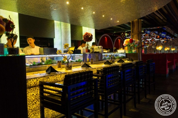 Sushi bar at Fushimi in Williamsburg, Brooklyn, NY