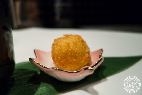 Risotto ball at   Fushimi in Williamsburg, Brooklyn, NY