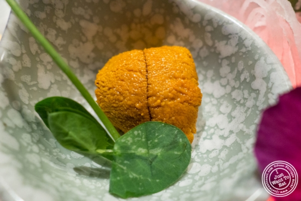 Uni or sea urchin   at Fushimi in Williamsburg, Brooklyn, NY