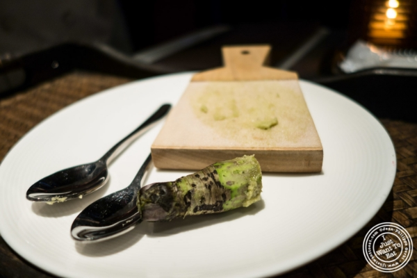Fresh wasabi   at Fushimi in Williamsburg, Brooklyn, NY