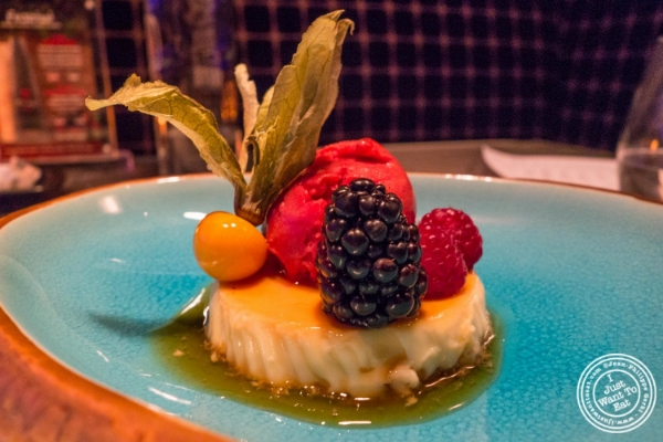 Creme caramel or flan  at Fushimi in Williamsburg, Brooklyn, NY