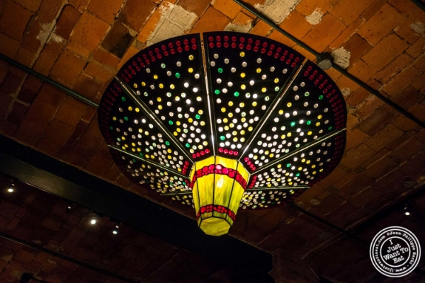Chandelier at Tribeca Grill in NYC, New York