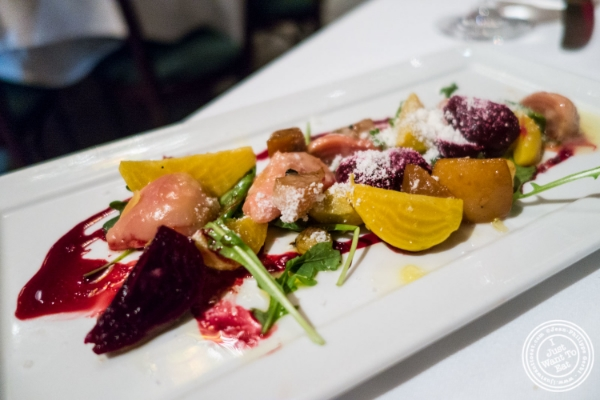 Baby beets salad at Tribeca Grill in NYC, New York