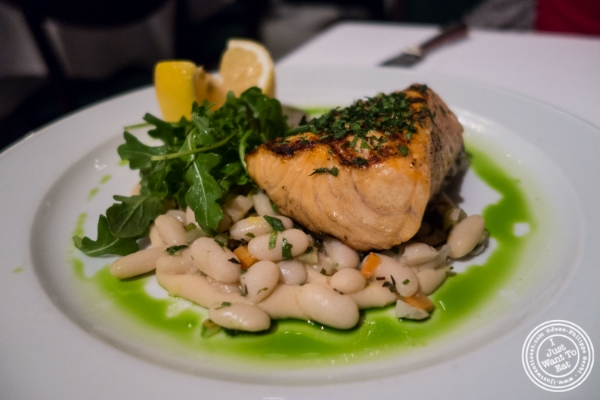 Grilled salmon at Tribeca Grill in NYC, New York