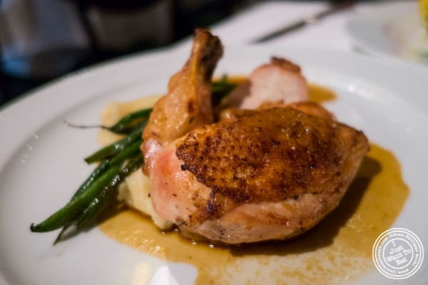 Amish chicken at Tribeca Grill in NYC, New York