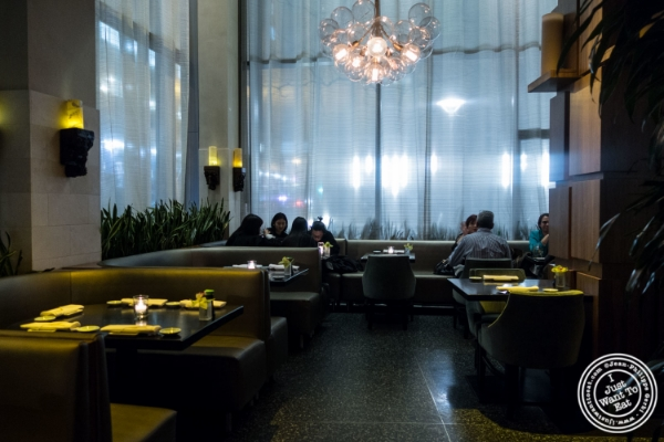 Dining room at Koi Soho in the Trump Hotel, NYC, New York