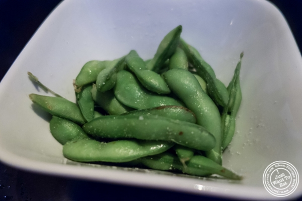 Edamame at Koi Soho in the Trump Hotel, NYC, New York