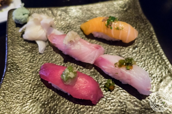 Nigiri at   Koi Soho in the Trump Hotel, NYC, New York