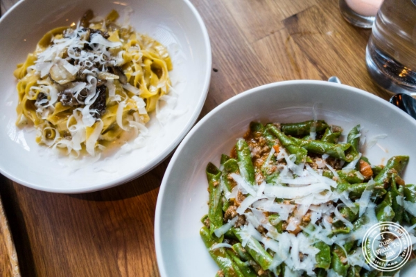 Homemade pasta at L'Apicio, Italian-inspired restaurant in Greenwich Village