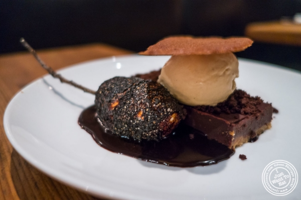 S'mores at Marc Forgione restaurant in Tribeca, NYC, New York