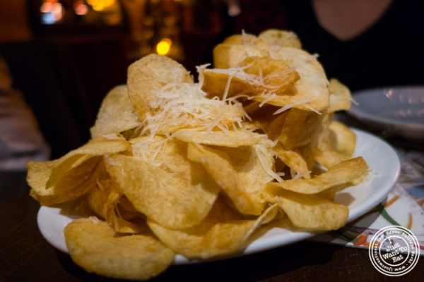 Tablao Manchego chips at Tablao, Tapas restaurant in TriBeCa, NYC, New York