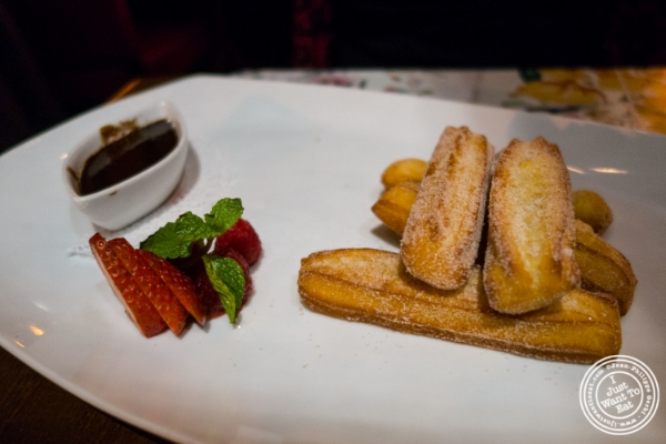Churros at Tablao, Tapas restaurant in TriBeCa, NYC, New York