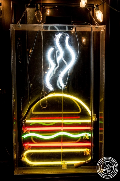 Neon at Burger Joint W8th Street in NYC, New York