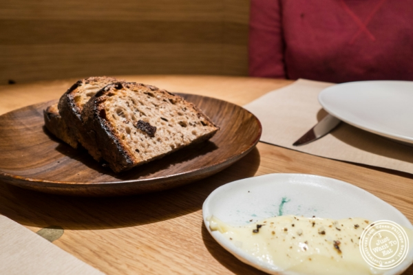 Bread and butter at Little Park in TriBeCa, NYC, New York