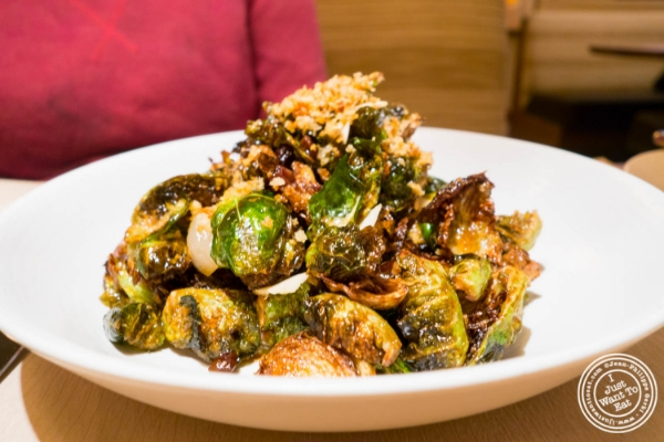 Brussels sprouts at Little Park in TriBeCa, NYC, New York
