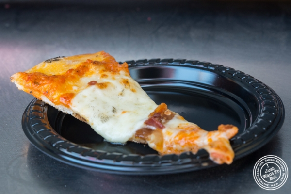 John's bacon and cheese pizza  at   Bacon and Beer Classic 2015 At Citi Field