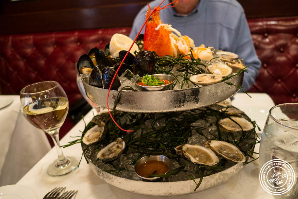 Le Chateau, seafood platter, atRue 57 in NYC, New York