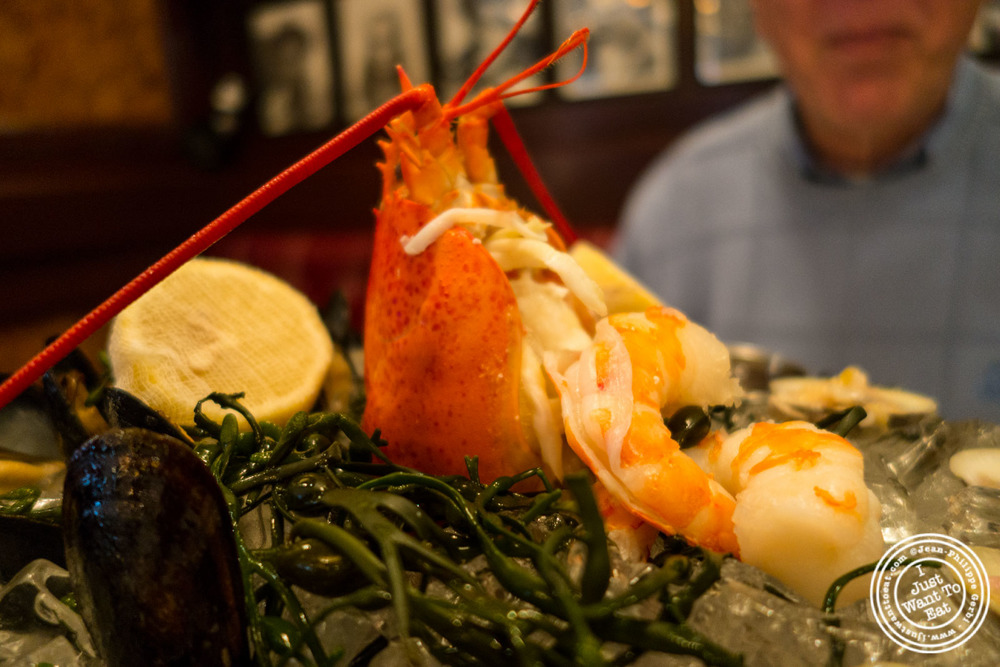 Lobster and shrimp atRue 57 in NYC, New York