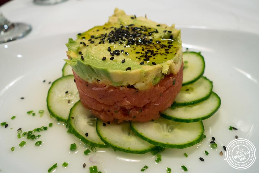 Yellowfin tuna tartare atRue 57 in NYC, New York