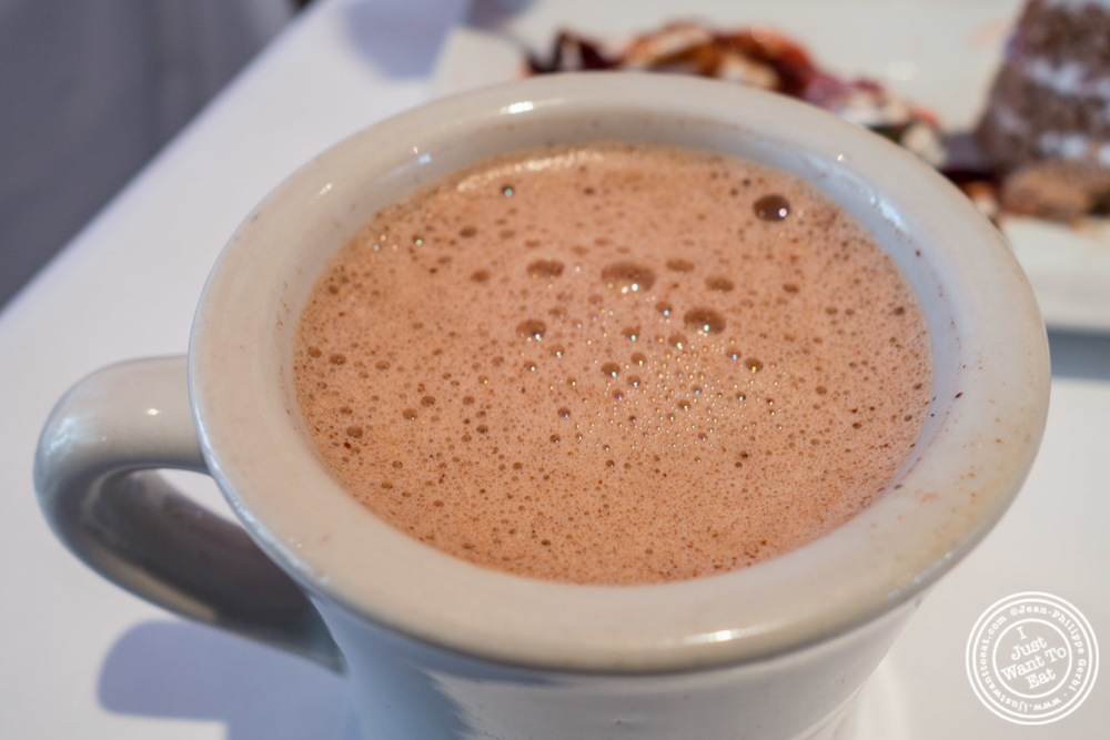 Hot chocolate at Sabores, Mexican restaurant in Hoboken, NJ