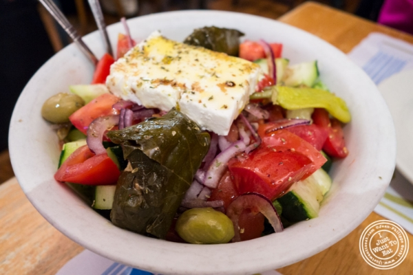 Greek salad at Uncle Nick's, Greek Restaurant in NYC, New York
