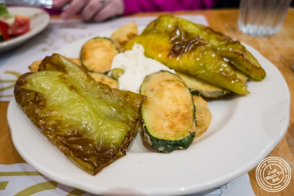 Grilled vegetables at Uncle Nick's, Greek Restaurant in NYC, New York