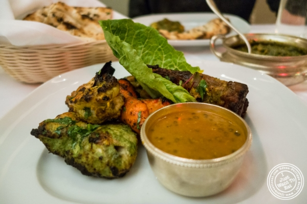 Tandoori mixed grill at Tamarind in TriBeCa, NYC, New York