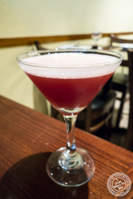 French martini at Ponty Bistro in NYC, New York