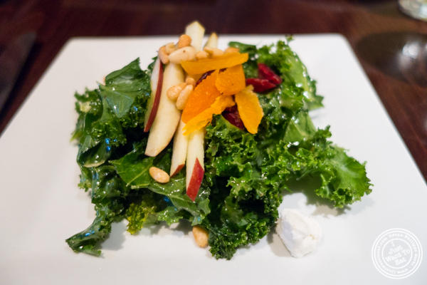 Kale salad at Ponty Bistro in NYC, New York