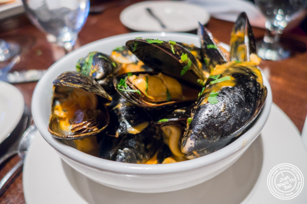 Mussels Africana at Ponty Bistro in NYC, New York