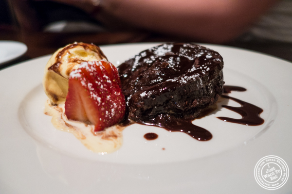 Chocolate frondant at Ponty Bistro in NYC, New York