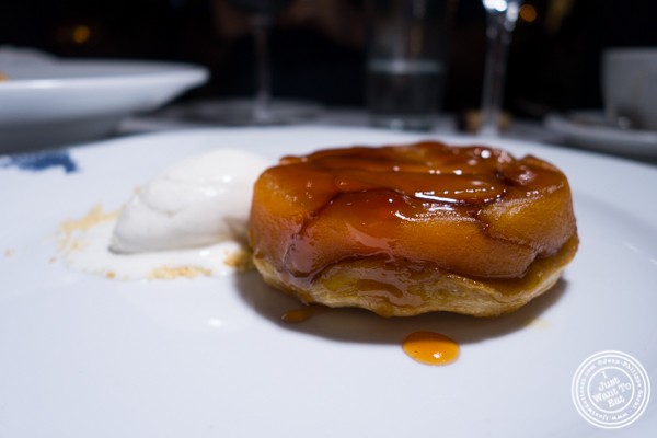 Tarte tatin at Bagatelle in the Meatpacking District, NYC, New York