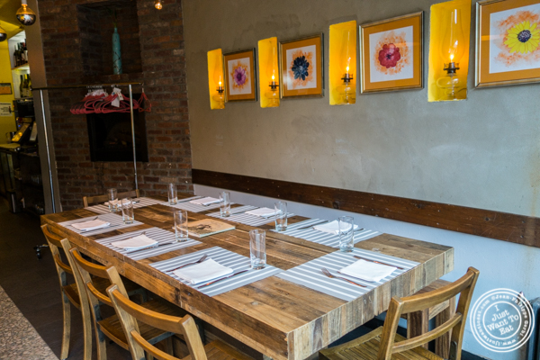 Dining room at Haldi, Indian restaurant in Curry Hill, NYC, New York