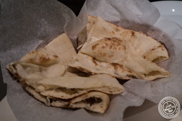 Naan bread at Haldi, Indian restaurant in Curry Hill, NYC, New York